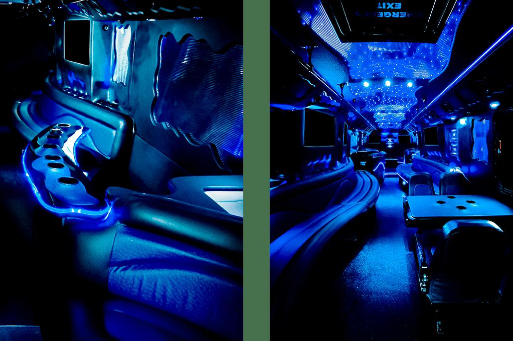 Night Train Party Bus Interior