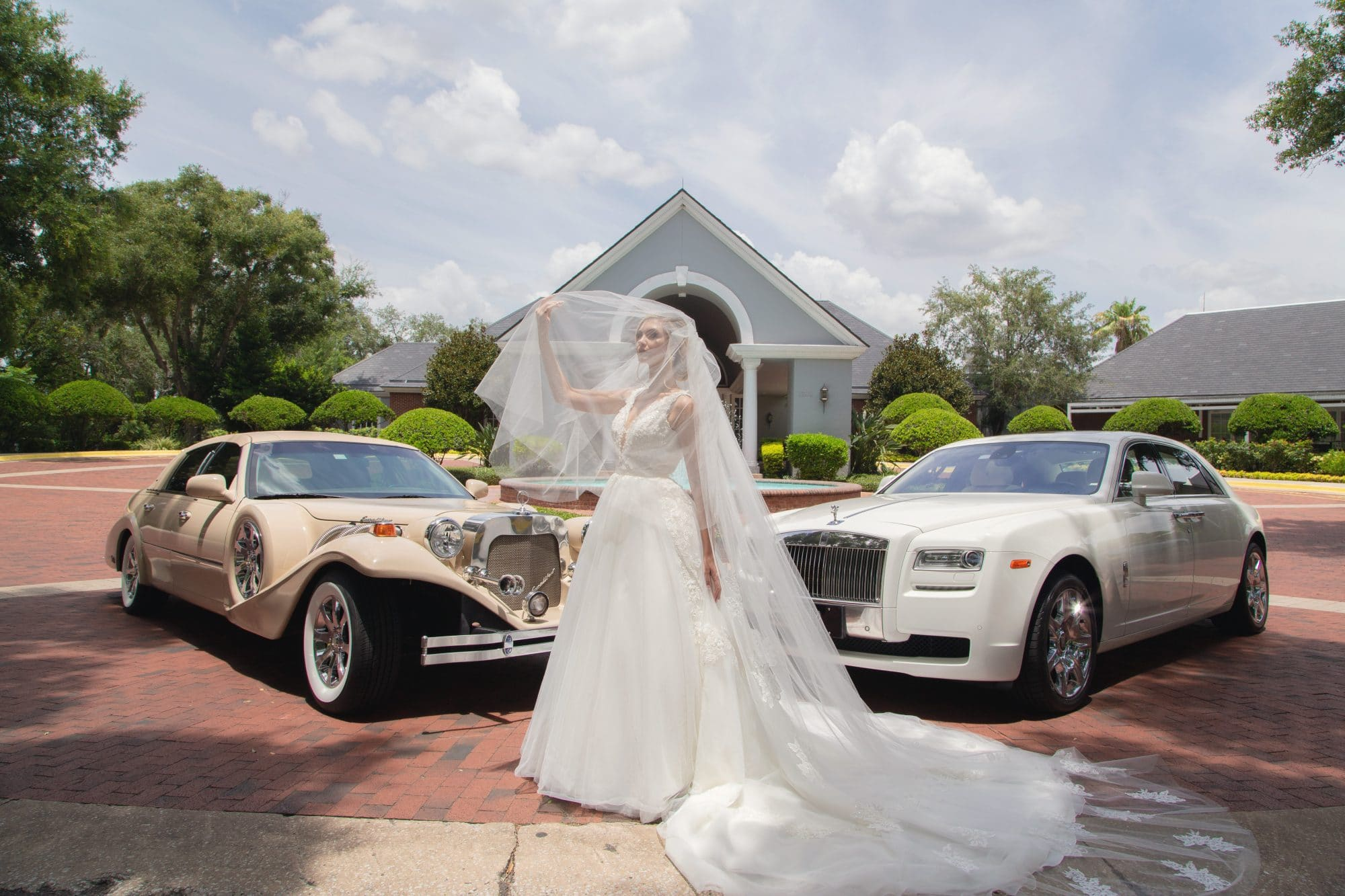 Wedding Limo Orlando - With Bride
