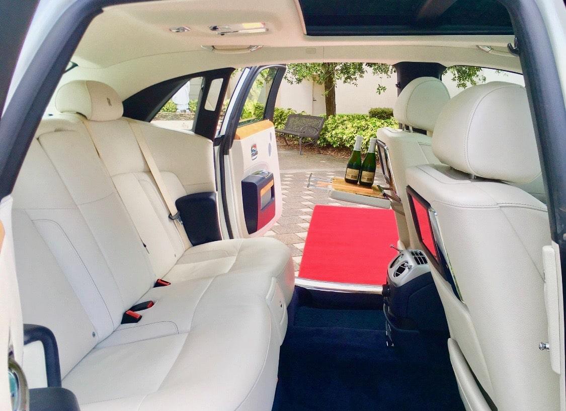 Rolls Royce White Doors Open