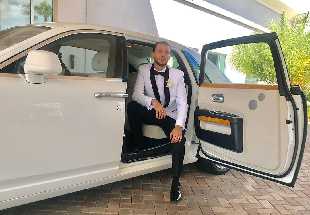 Rolls Royce Ghost With Groom